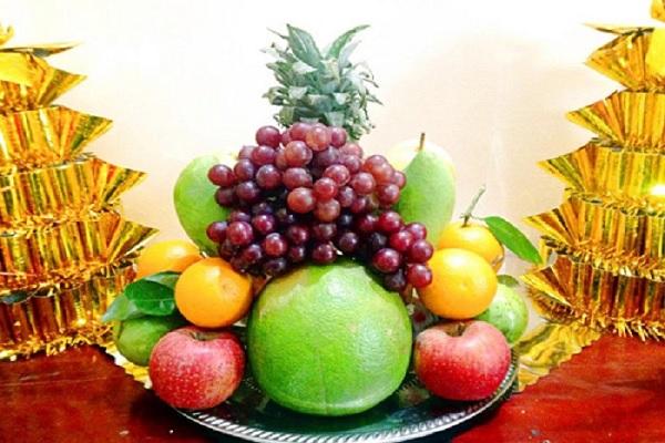 mâm cúng trái cây