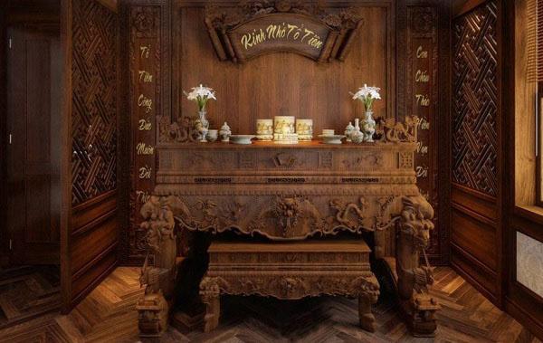 bàn thờ gia tiên dành cho tuổi sửu