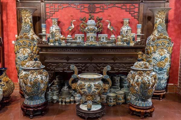đồ thờ cúng bằng gốm sứ bát tràng