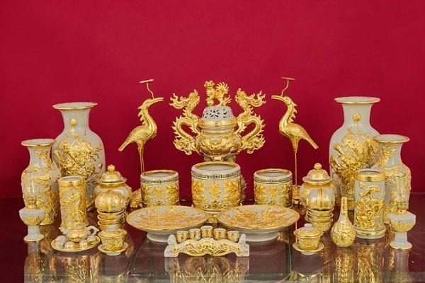 trọn bộ thờ cúng vẽ vàng